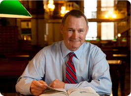 Michael Fitzgerald in the Capitol Library